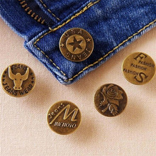10PCS 20MM Metal Button Jean Buttons for Jeans Mixed High Quality Clothing Accessories Free Shipping