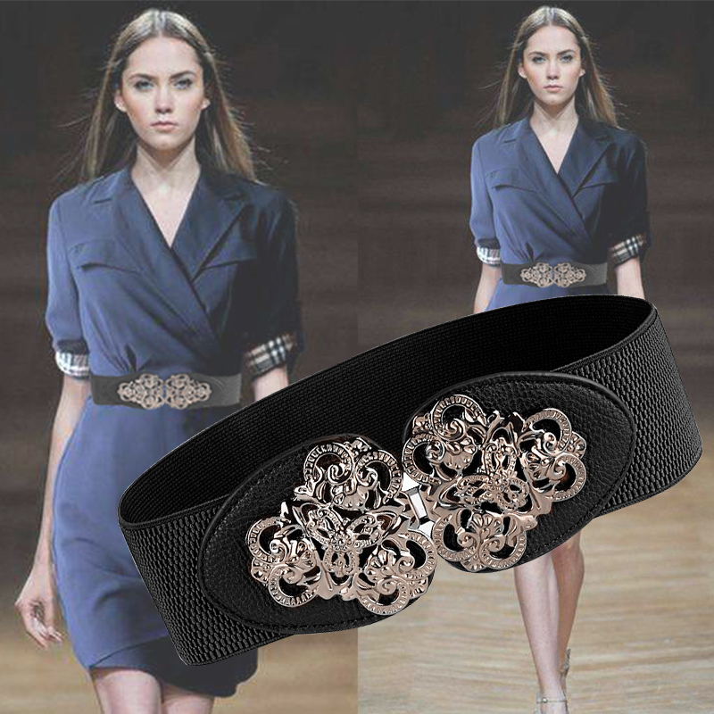 2019 New Models Belt Bohemia Style Waist Seal Elastic Band Strong Elasticity Female Fashion Trend Kirsite Pin Buckle Wide Belt