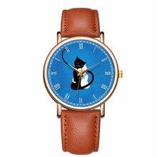 Cat Clock Wrist-Watch Luxury Fashion Mens Cute Relogio Quartz Masculino