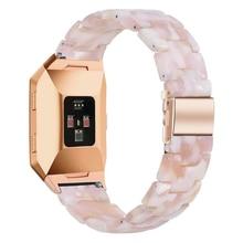 سوار ساعة راتينج وردي قابل للتعديل للرجال والنساء ، سوار Fitbit الأيوني والعكس 2 Lite ، ملحقات بديلة