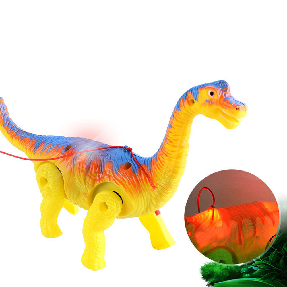 New Electronic Dinosaur With Light Sound Electric Walking Light Vocal Leash Dinosaur For Kids Toys Random Color
