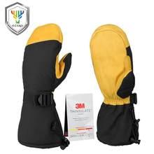 Зимние перчатки OZERO, 3 м, с теплоизоляцией, хлопковые, для снега, работы, лыж, водонепроницаемые, ветрозащитные, для мужчин и женщин, желтые, че...