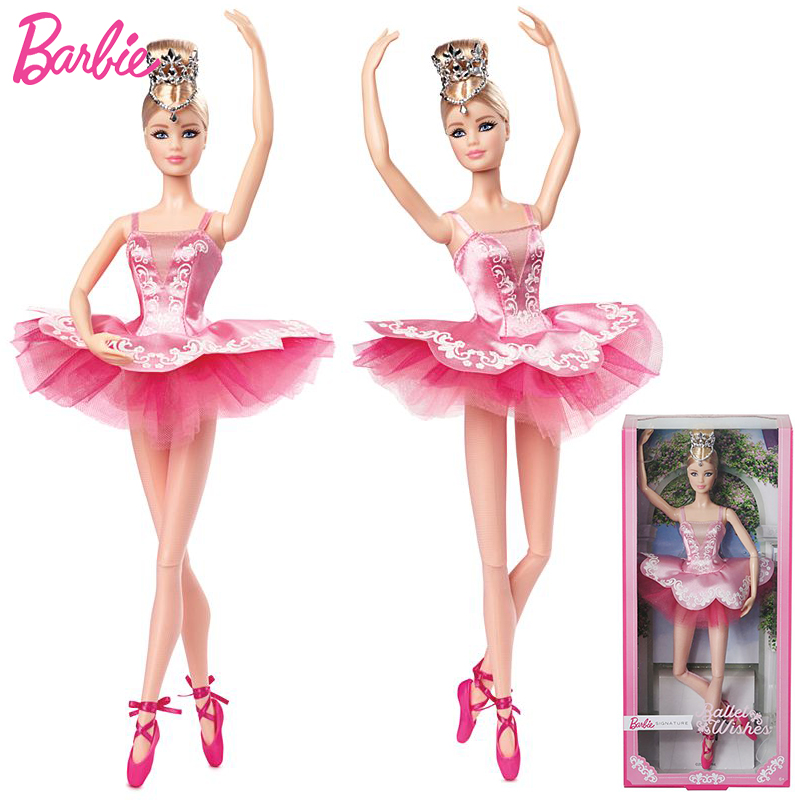 Original Brand Barbie Ballet Wishes Doll Colletor Pink Label Actionr Toy Girl Birthday Present Girl Toys Gift Boneca Juguetes