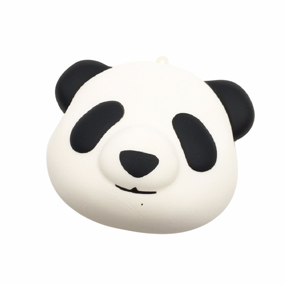 Panda Head Slow Rebound Squishy Pu Vent Toy Squishy Squeeze Stress Reliever Soft Face  Scented Slow Rising Toys L103