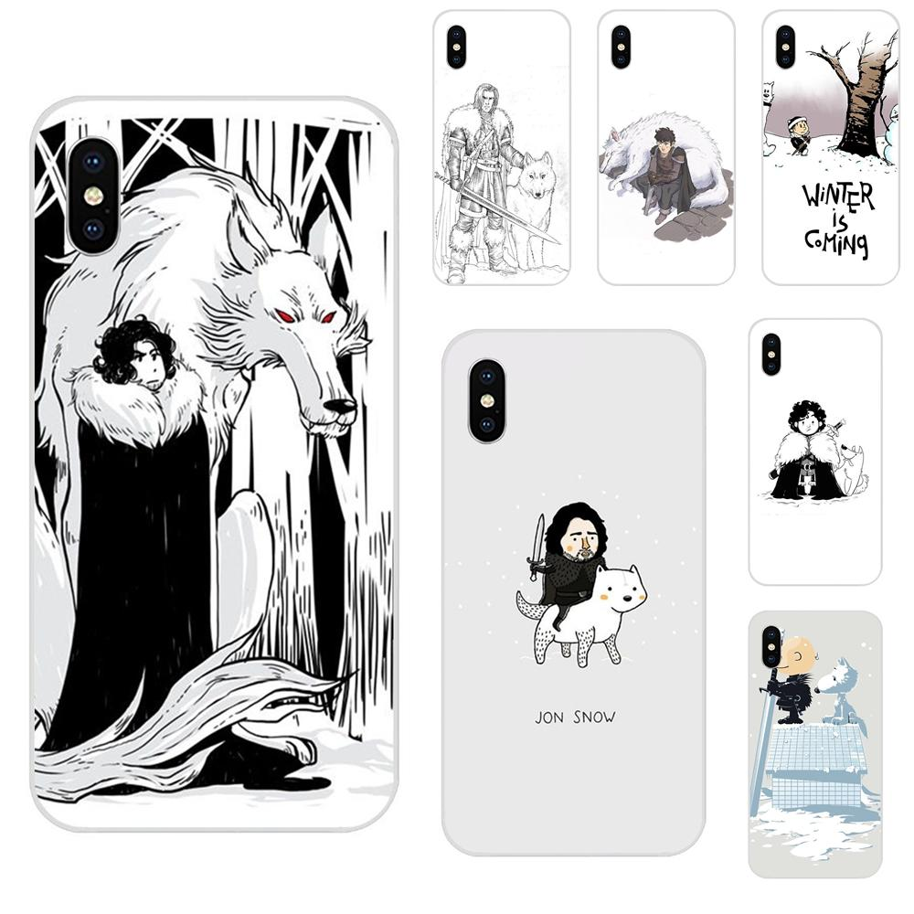 Diy Painted Funny Jon Snow Game Of Throne For Galaxy Grand A3 A5 A7 A8 A9 A9S On5 On7 Plus Pro Star 2015 2016 2017 2018 image