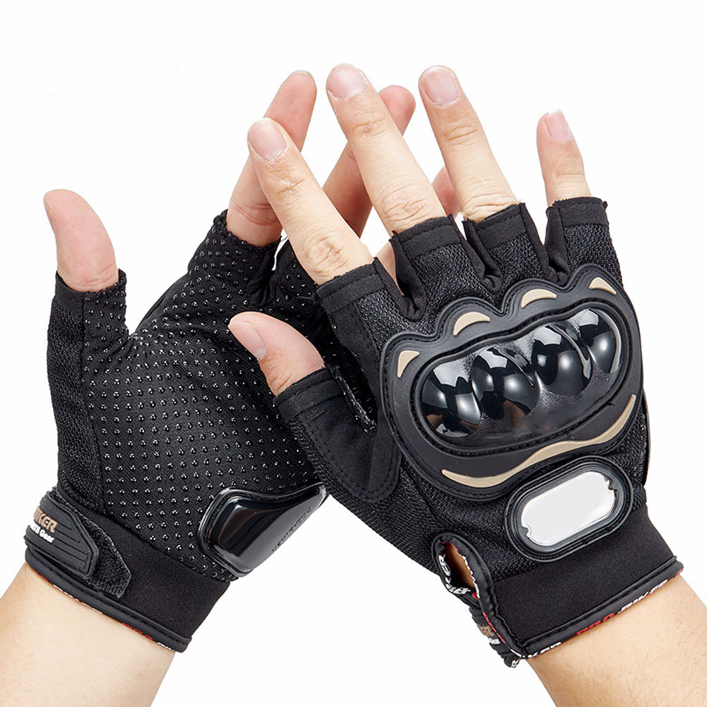 1 Pair Casual Men Women Half-finger Gloves Motorcycle Protective Racing Gloves