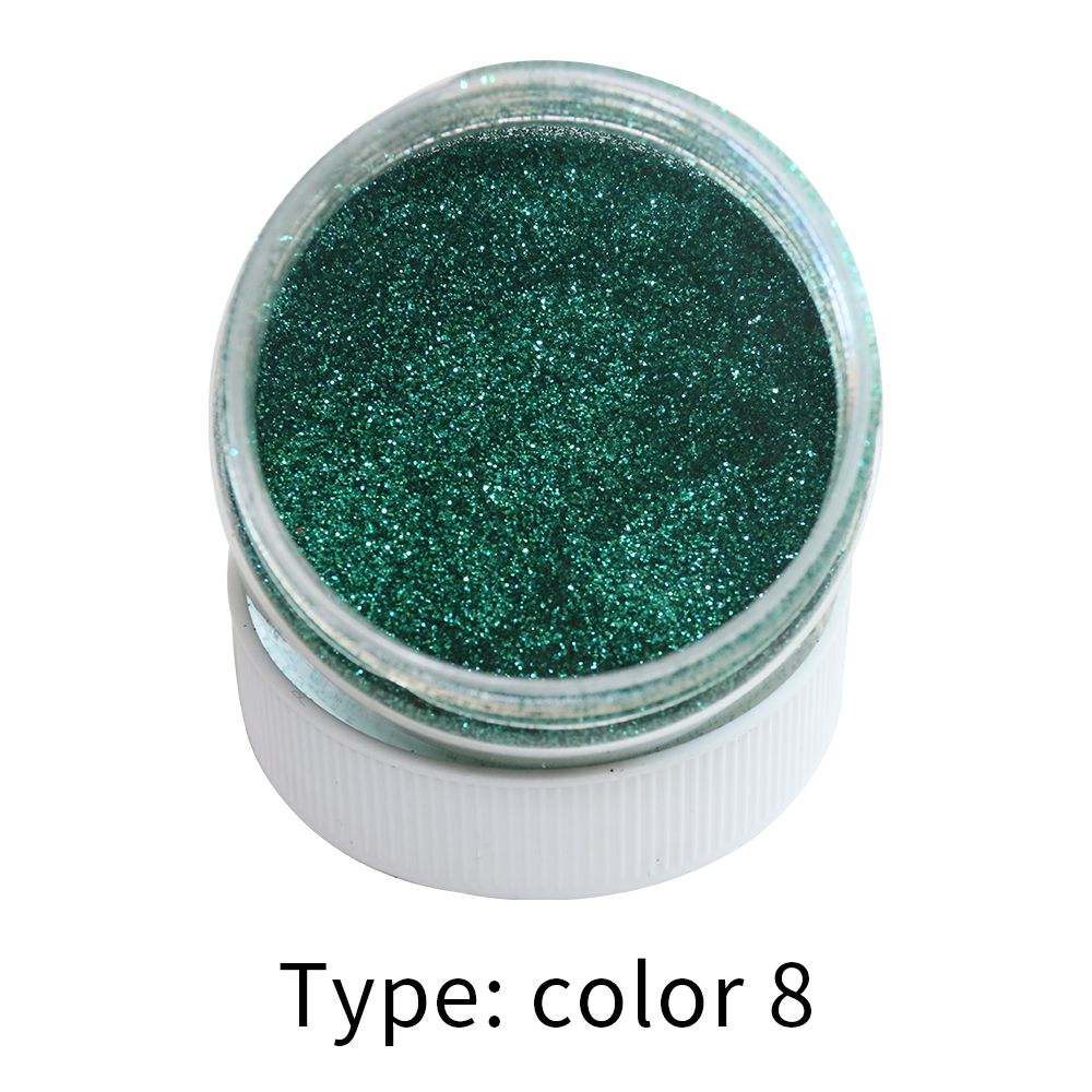 Color 8 Glitter Fine Bright Electroplating Materials Pearl Powder Pigment Paint Coating Automotive Coatings Ceramic Art Crafts