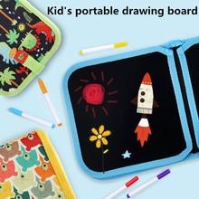 Kids Crafts Portable Water Drawing Board Book Board Scratch