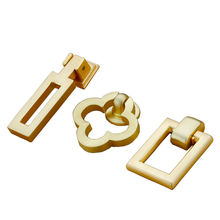 2pcs Handle Door Knobs Drawer Pulls Kitchen Cabinet Cupboard Rectangle Flower Shape Handles for Furniture Hardware