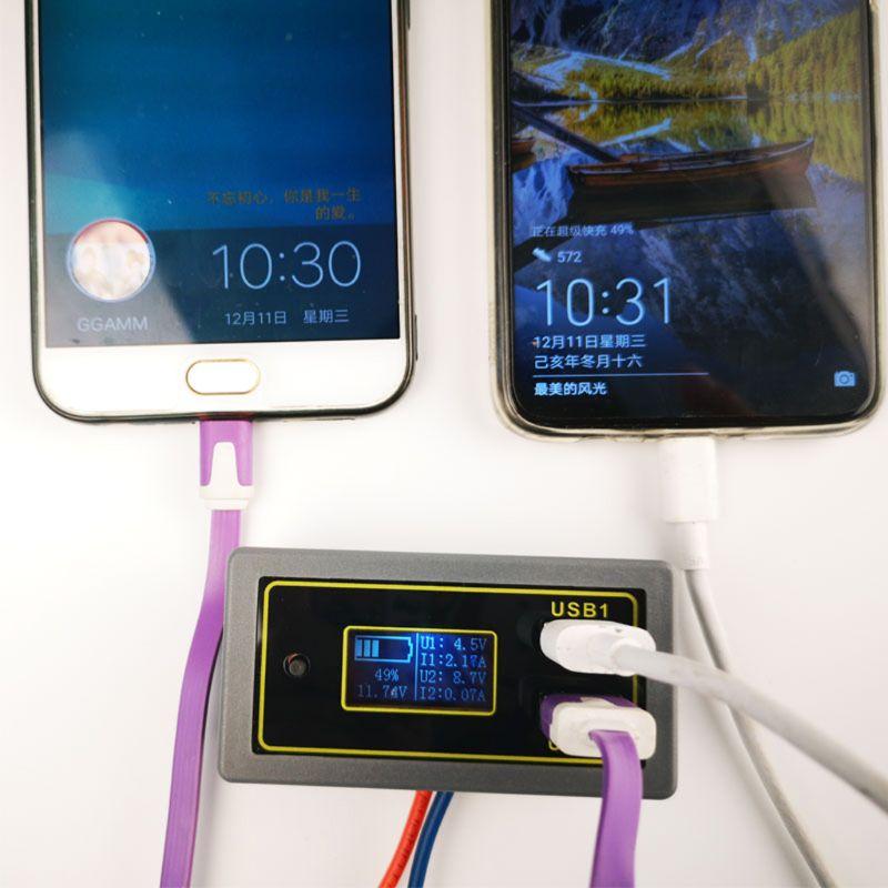 Display digital voltímetro bateria medidor de tensão