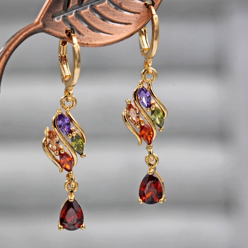 H674b84df48b44e5189817495ce1c2fabW - Trendy Vintage Drop Earrings For Women Gold Filled  Red Green Pink Lavender Zircon Earrings Gold  Earring Wedding  Jewelry