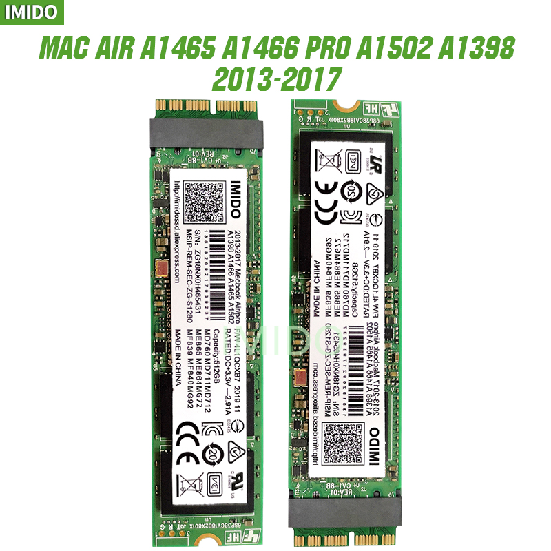 NEW 128G 256G 512G 1TB 2TB For Macbook Air 2013 2014 2015 A1465 A1466 Imac PRO 2013 2014 2015 A1502 A1398 Mini SOLID STATE DISK