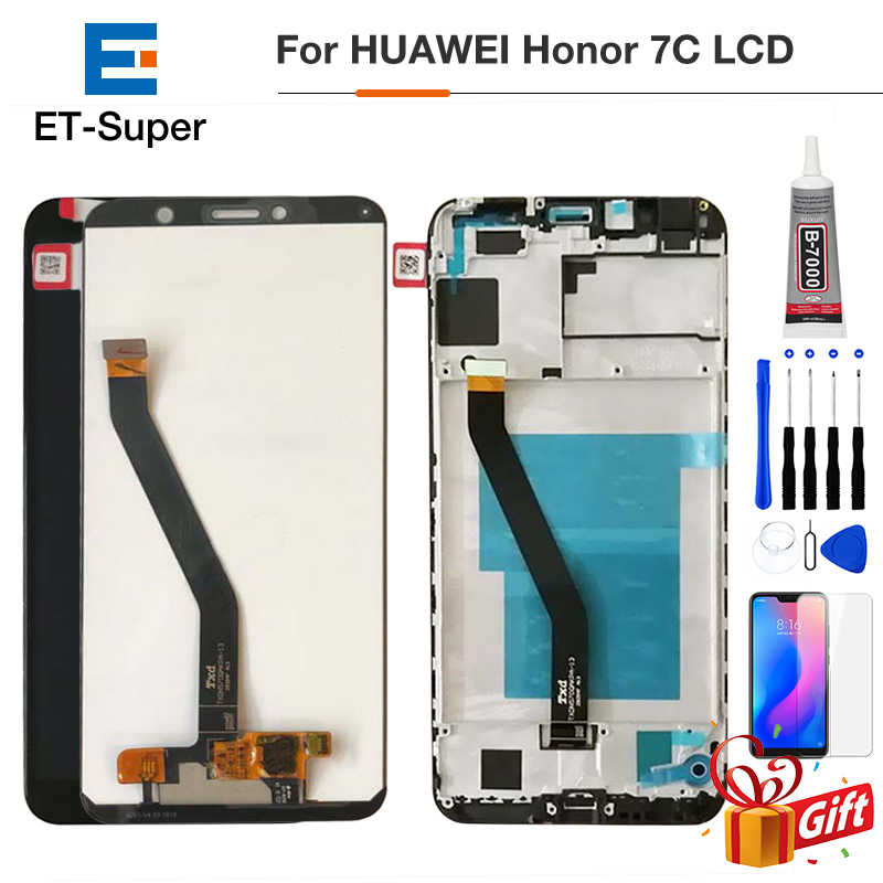 Original de 5.7 polegada para Huawei Honor 7C Aum-L41 Aum-L41 LCD Screen Display Toque Digitador Assembléia Para Huawei ATU LX1/ l21 + Quadro