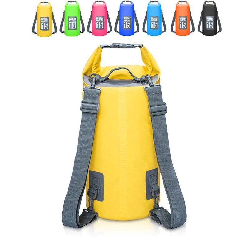 30L Waterproof Bag PVC Waterproof Bags Swimming Beach Drifting Pack Camouflage Waterproof Bucket Bag Shoulder Waterproof Bag