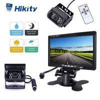 Hikity 7 TFT LCD car monitor Display Car Rear View Monitor 4 pin Connector Vehicle Reverse Backup Camera for RV Caravan Trailer