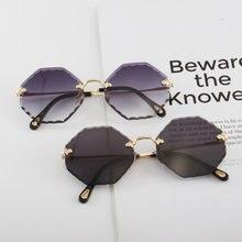 Женские солнцезащитные очки polygon без оправы роскошный бренд