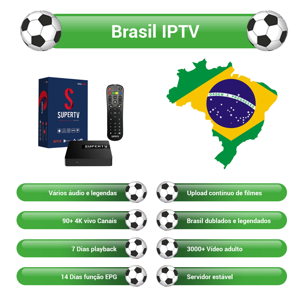 The Best Brasil IPTV With Android TV Box Supertv Blue Box 750+ Channels IPTV 4K HD Brazilian Portuguese TV Box Hot Club VOD EPG