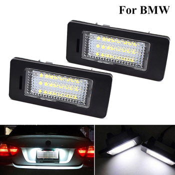 2Pcs Led Number License Plate Light Signal Lamp tail light 6000K Car Accessories for BMW E39 M5 E70 E71 X5 X6 E60 E90 E92 E93 M3 image