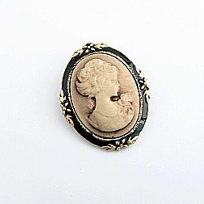최고의 저렴한 크라운 브로치 헤드 초상화 대형 브로치 방패 모양 브로치 쥬얼리 빈티지