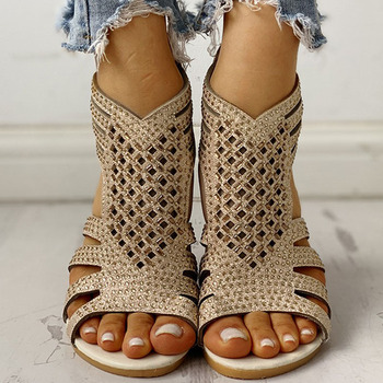 Women Shoes Sandals Summer Low Heel Shoes PU Leather Gladiator Luxury Shoes Women Designers Zapatos De Mujer E14 summer women sandals gladiator sandals women strange metal high heel 9 cm womens shoes 2018 zapatos mujer plus size hl94muyisexi