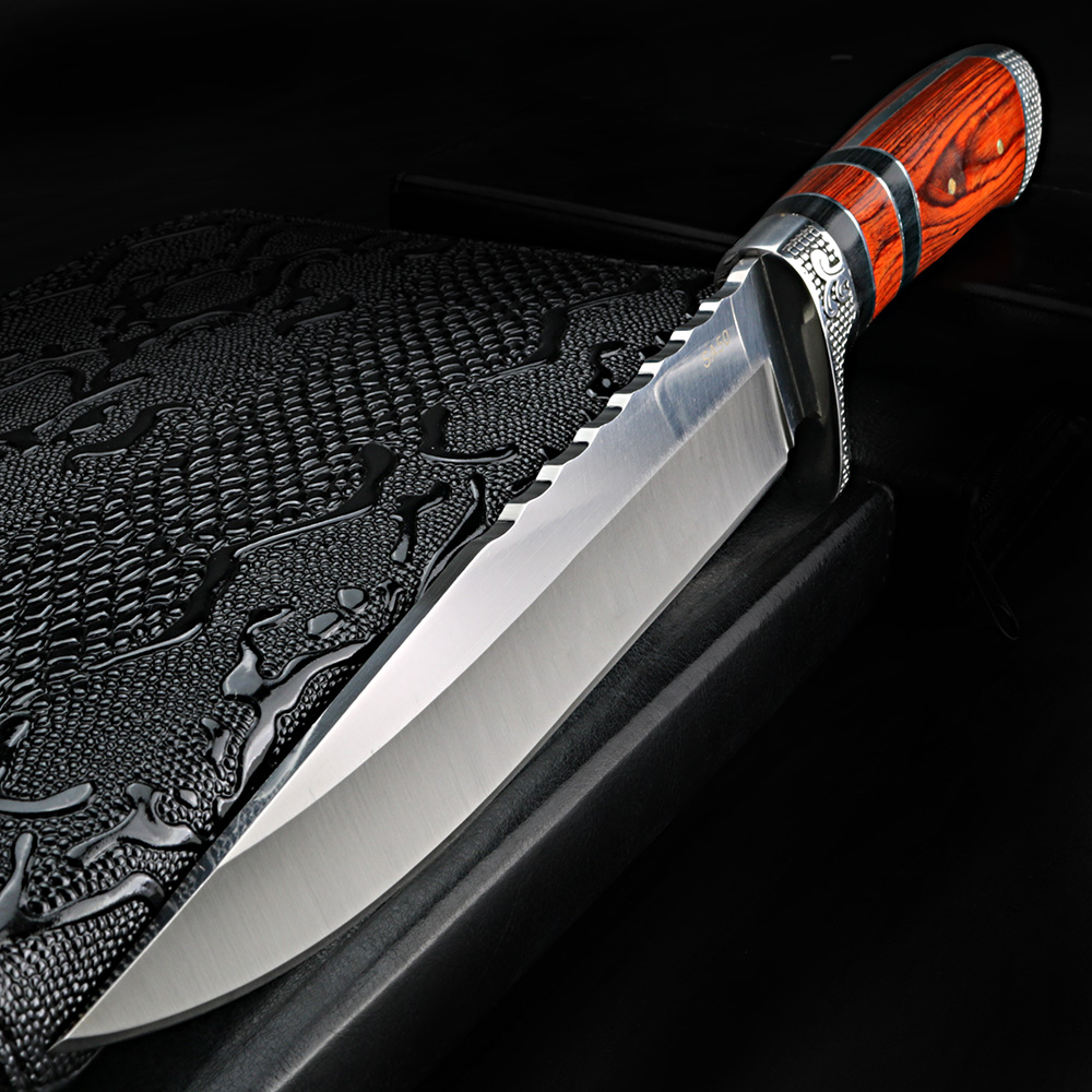 XUAN FENG Survival Straight Knife Field Survival Saber Outdoor Knife Self defense Hunting Knife Portable Retired Knife|Knives| |  - title=