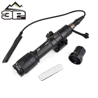 Airsoft Weapon M600 Tactical Flashlight LED 340 Lumens Remote Pressure Switch M600C Rifle Flashlight Weapon Light WEX072
