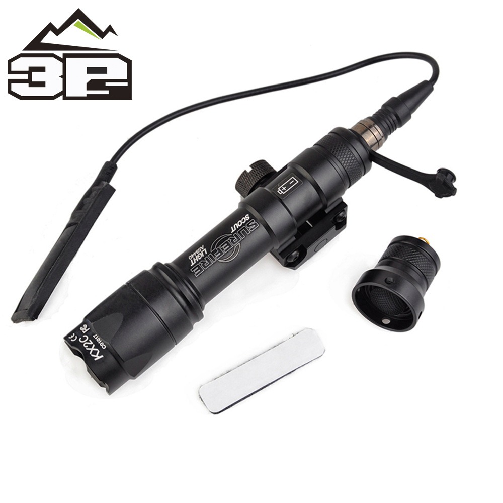 Wadsn Airsoft M600 Tactical Flashlight LED 340 Lumens Remote Pressure Switch M600C Rifle Flashlight  Weapon Light WEX072-in Weapon Lights from Sports & Entertainment