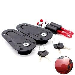 Samochód wyścigowy kolor włókna węglowego kaptur Pin Plus zestaw zatrzaskowy do montażu podtynkowego zamek z kluczami uniwersalny kaptur czarny