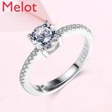 Ring Women's Sterling Silver Proposal Simulation Diamond Ring Wedding Women's Fashion Personalized Niche Design  Fashion Gift