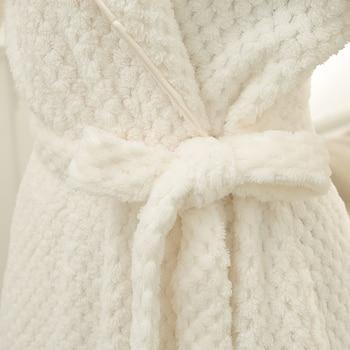 Mens Silk Robes   Hot Sale Women Men Thick Warm Bathrobe Extra Long Silk Soft Kimono Bath Robe Femme Dressing Gown Bride Bridesmaid Robes Wedding