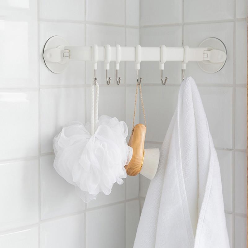 Bathroom Kitchen Vacuum Towel Suction Cup Heavy-duty Hanger Hooks Double Z9N2