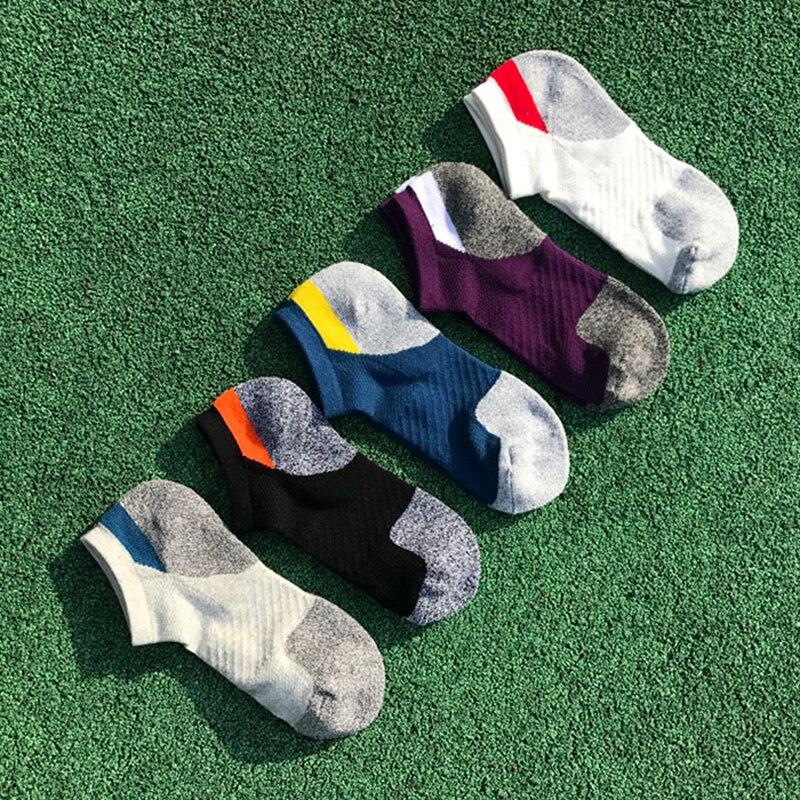 Men's Cotton Compression Sport Socks Cycling Socks Professional Running Basketball Bike Socks Low Cut Run Sports Sock New