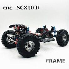 """Novo 313mm 12.3 """" inch wheelbase montado cnc metal quadro chassi para 1/10 rc rastreador carro scx10 ii kit 90046 90047 atualizar"""