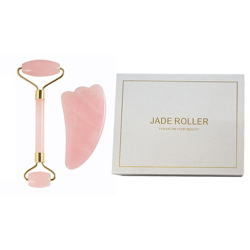 Natural Stone Roller Facial Thin Beauty Massage Face Lift Tools Artificial Jade Roller Wrinkle Removal Neck Skin Care Massager
