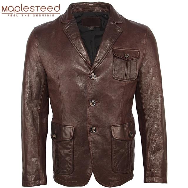 Männer Leder Jacke 100% Natürliche Gegerbtem Schaffell Soft Slim Fit Leder Jacke Männer Haut Mantel Leder Anzug Frühling Herbst M463