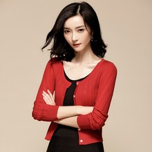 Short Women's Knitted Cardigan White Sweater Women Korean Slim Cardigans Women Tops Red Autumn Woman Clothes 2020 LL01-1(China)