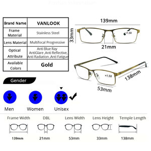 Image 5 - VANLOOK Progressive Multifocal Reading Glasses Computer For Men Women Sight Clear Adjustable Eyeglasses Red +1.0 1.5 2 2.5 3 3.5