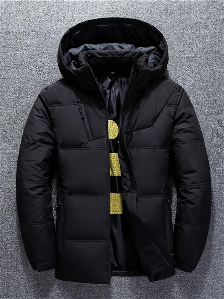 Men Winter Coats Parkas Down-Jackets White-Duck-Down Waterproof Fashion Casual Warm Man