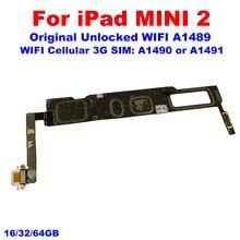 100% סמארטפון עבור iPad Mini 2 לוח האם, 16GB 32GB 64GB היגיון לוח עבור iPad Mini2 Mainboard עם IOS מערכת האם