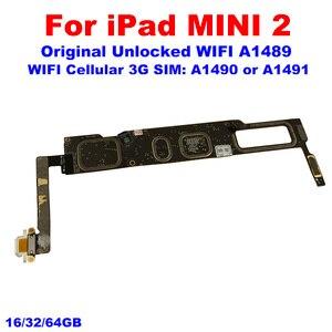 Image 3 - A1489 A1490 A1491 עבור iPad Mini2 Mainboard עם IOS מערכת 100% סמארטפון עבור iPad מיני 2 האם 16GB 32GB 64GB היגיון לוח