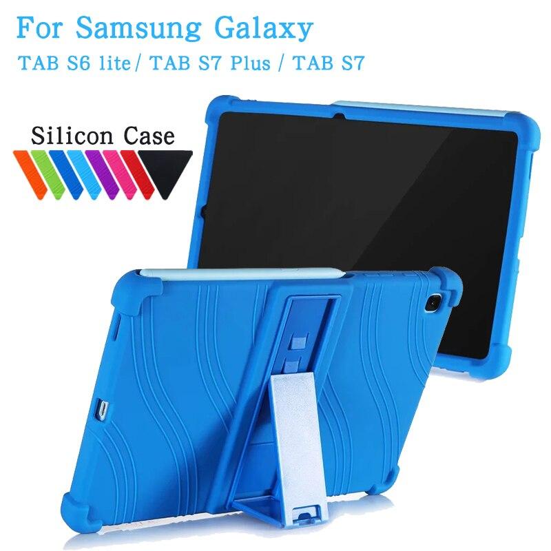 Capinha para samsung galaxy tab s6 lite 10.4 polegada sm p610 p615 capa de silicone para galaxy tab s7 11 SM-T870 t875 s7 mais 12.4 caso
