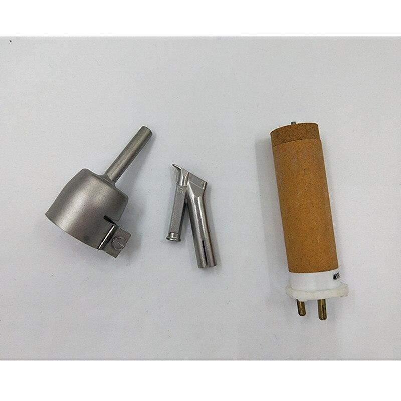 Пластиковый пистолет для сварки горячим воздухом с нагревательным Elemets и 2 шт. насадками, тепловая пушка для пола, сварочные инструменты для пайки теплового инструмента - 3