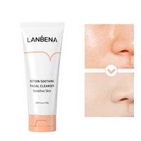 LANBENA Facial Cleanser Ectoin Anti Allergic Repair Soothe For Sensitive Skin Care Face Wash Foam Nourishing Moisturizing 100g 2