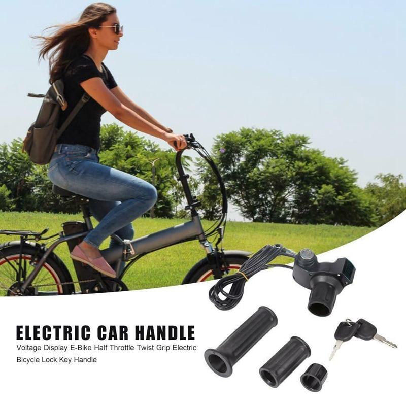 Ebike Speed Controller Throttle Digital Meter Grip E-Bike Scooter W// Keys 1 Pair