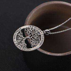 Image 3 - BALMORA 100% prawdziwe 925 Sterling Silver gorące drzewo życia okrągły mały wisiorek i naszyjnik Bijoux kobiety mężczyźni biżuteria spadek wysyłka