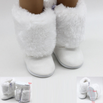 43cm Born Baby Dolls Snow Boots Shoes for 18 inch Doll Winter Chirstmas Shoes Doll Accessories mini dolls shoes cartoon cat shoes 7cm pu leather shoes for 43cm doll 18 inch americian doll giant baby accessories girl gift