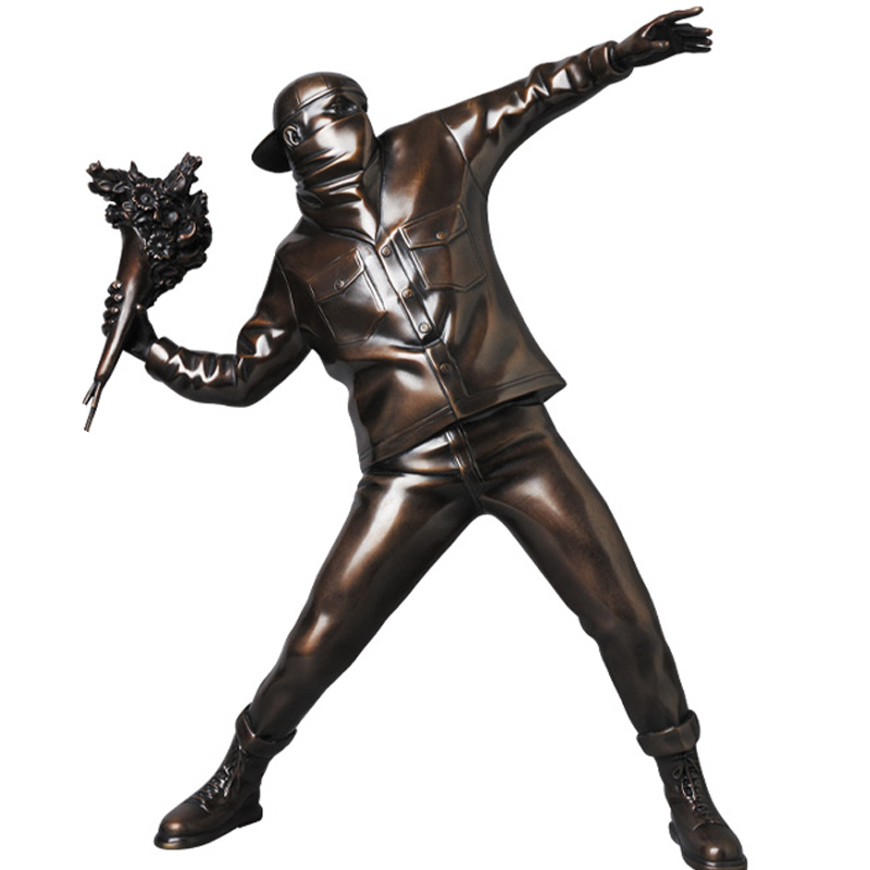 England Street Art Banksy Sculpture Bomber Figure Collectible Art Toy