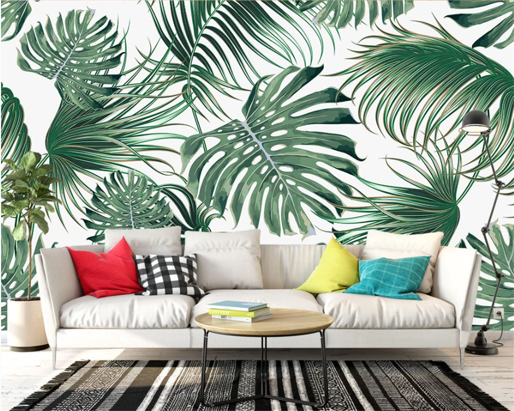 Beibehang Custom Modern Classic Papel De Parede 3d Wallpaper Nordic Tropical Leaves Banana Leaf Tv Sofa Background