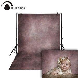 Image 2 - Allenjoy ancien maître photographie fond photophone violet brun mélange vintage couleur Pure nouveau né mariage toile de fond Photo studio