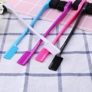 Image 3 - 1/3 יחידות כפול צדדי קצה מברשות שיער מסרק שיער וסטיילינג סלון שיער מסרק מברשות אקראי צבע